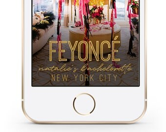 Bachelorette Snapchat Geofilter, Feyonce Snapchat Filter, Custom Snapchat Filter, Bach Bash Geofilter, Beyonce Snapchat Filter