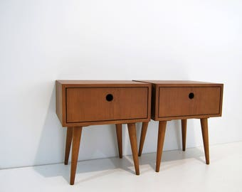 pair of nightstand night stand bedside table bed side table side table