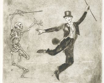 """Original """"Dance with death"""" engraving"""