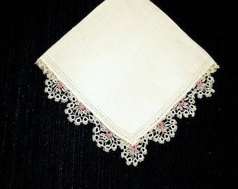 Antique Heirloom hankie Wedding hankie Embroidered hankie hankerchief