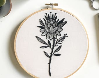 Flower Collab w/ Nick Wolf Hand Embroidery Wall Art 7""