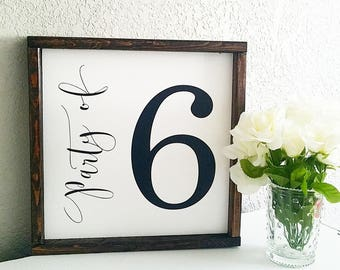 Party of Number Sign, Number sign, family number sign, family sign, farmhouse sign