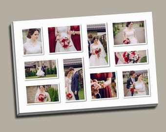 Wedding Canvas Collage Up to 10 Photos Anniversary Canvas Your Image on Canvas Custom Canvas Gift From Her to Him From Him to Her Memento