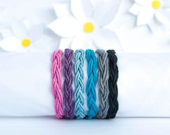 Custom Color Bracelet | Braided Hemp Cord Bracelet | Stackable Bracelet | Handmade Jewelry | Adjustable Bracelet | Birthday Gift