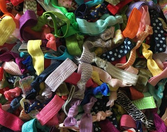 Mystery Grab Bag! 50 Fold Over Elastic Hair Ties FOE
