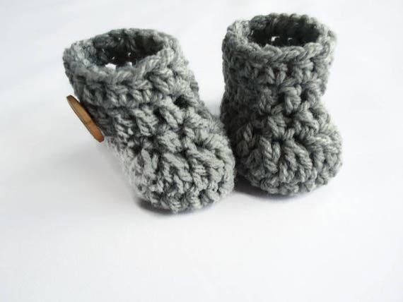 7b21ab8bffb73 durable service Grey newborn booties Handmade newborn boots Baby ...