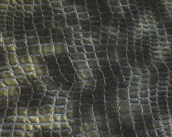 Coupon of black and grey leather lizard (9304605) print