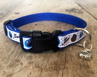 """Cookie monster dog collar (small 1/2"""")"""