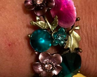Vintage Bangle Jeweled Bracelet