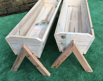 Wooden garden planters/ flower trough