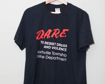 Vintage 1990's Dare to Resist Drugs and Alcohol Shirt | Size Medium