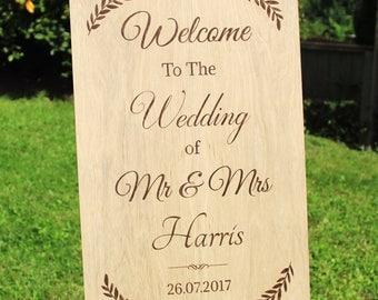 Welcome Wedding Sign, Welcome to our Wedding Wooden Sign, Wedding Welcome Sign, Rustic Wedding Sign, Wedding Reception Sign, Rustic Wedding
