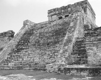 Tulum Mayan ruins photo home decor art & collectibles art print wall art