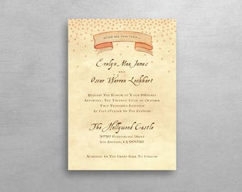Harry Potter Inspired Wedding Invitation & RSVP - Simple Suite - Deposit Listing