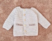 Herringbone Baby Sweater (PATTERN ONLY)