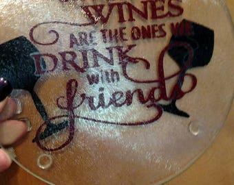 "Round cutting boards ""wine"""