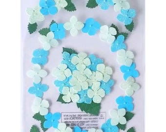 6 3D flowers pansies 22 cm Martha Stewart creative cardmaking scrapbooking stickers Stickers