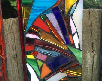 Stained Glass Mosaic Tile - Abstract Multicolour