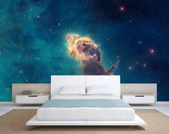 ceiling galaxy, ceiling wallpaper, nebula wall mural, self-adhesive vinly, STAR wall DECAL, space star wall mural, nebula  ceiling wallpaper