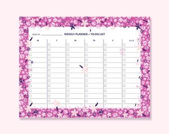 Weekly Planner, Weekly Schedule PDF, Daily Schedule, Printable To-Do list, Undated Planner, Weekly Planner 2017, Weekly Organizer