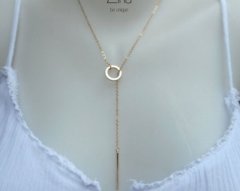 Aina Lariat - Gold plated 24 k gold