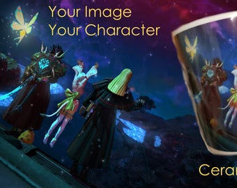 Your FFXIV Character / Screenshot on a Mug! Final Fantasy XIV 14. Any image printed on a Ceramic Mug.