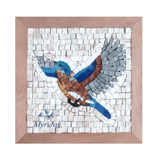 Mosaic kit take flight diy craft kit for adults mosaic wall for Mosaic tile for crafts