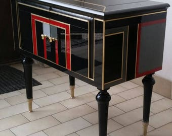 Mobile murano glass cabinet-meubles verre murano