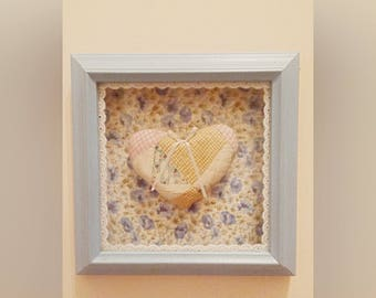 Shabby Chic Quilted Heart Shadow Box
