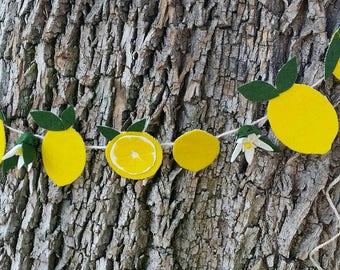 Lemon Banner, Lemon Garland, Lemon Bunting, Lemonade stand, Lemonade Garland, Lemonade Banner, Lemonade Bunting, Fruit Banner, Fruit Garland