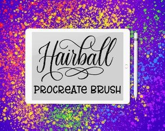 Hairball custom lettering brush for Procreate App