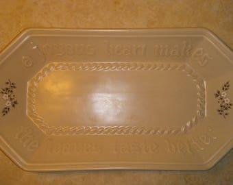 Pfaltzgraff bread tray