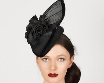 Percher hat for weddings, race days and garden parties. Couture millinery, hats, headpieces, hatinators & fascinators - 'Venus was her name'