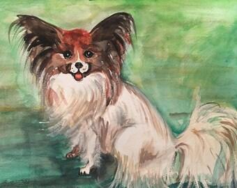 Custom pet portrait Watercolor portrait Original Painting Gift