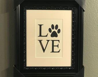 """Framed Art """"Love"""""""