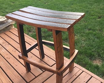 Bourbon barrel stool. Kentucky Whiskey stool Made from Makers Mark staves.