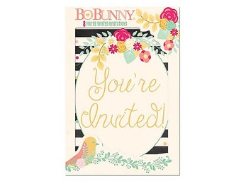 BoBunny You're Invited Invitations