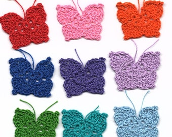 10 Handmade Butterfly Appliques