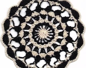 Handmade Black & White Doily
