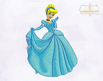 Beautiful And Lovely Princess Cinderella Embroidery Design | 4x4 Hoop Embroidery Design