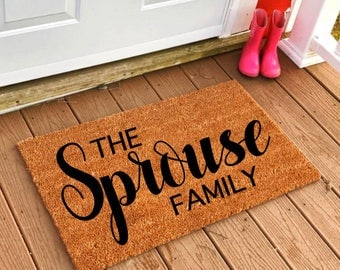 Personalized Doormat, Custom Doormat, Custom Rug, Personalized Rug, Last Name Doormat, Newlywed Doormat, Housewarming Gift, Custom Home