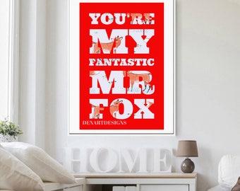 Fantastic Mr Fox - Fox Print Roald Dahl