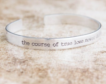 The Course Of True Love Never Did Run Smooth / Shakespeare Gift / A Midsummer Night's Dream / Literary Jewelry / Theater Gift / Actor Gift
