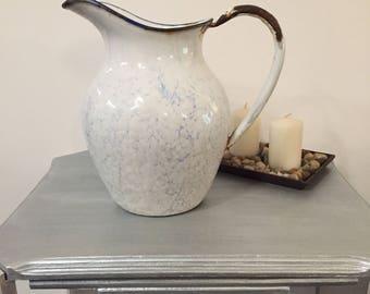 Vintage enameled water pitcher