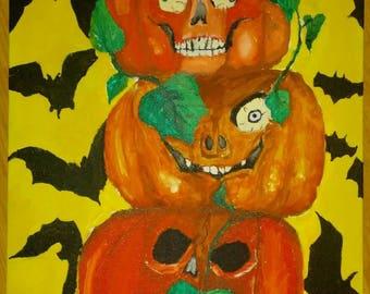 Pumpkin Painting- 3 Evils