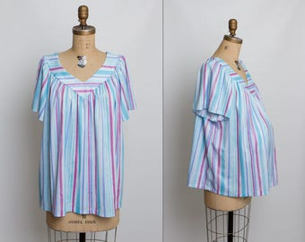 vintage 80s striped maternity top