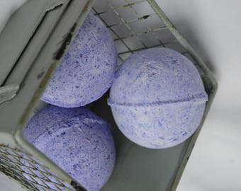 3 Lavender medium bath bombs