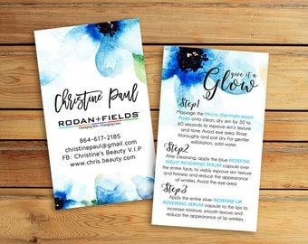 Rodan and Fields Mini Facial Card - R+F Business card -  Rodan + Fields - Personalized Business Card - Digital , Printable