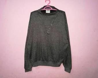 Rare!! Agnes b. Homme Fashion Designs Half Zipper Pullover Jumper Sweatshirt