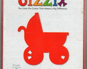 Baby Carriage Sizzix Die Cutter Scrapbook Embellishments Cardmaking Crafts